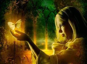 Girl-Butterfly-Light