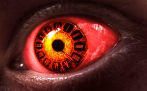 Red Clock Eyes Wallpaper