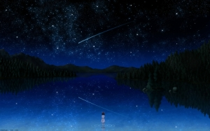 water-outer-space-trees-dark-night-stars-forest-darker-than-black-anime-shooting-star-lakes-reflecti_www-wall321-com_81